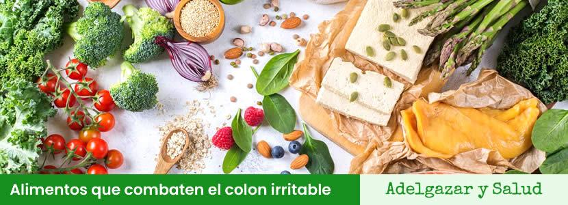 Bodegón de alimentos que combaten el colon irritable