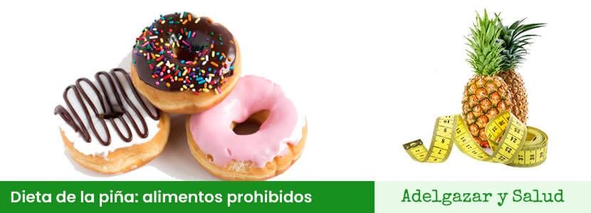 alimentos prohibidos en la dieta de la piña