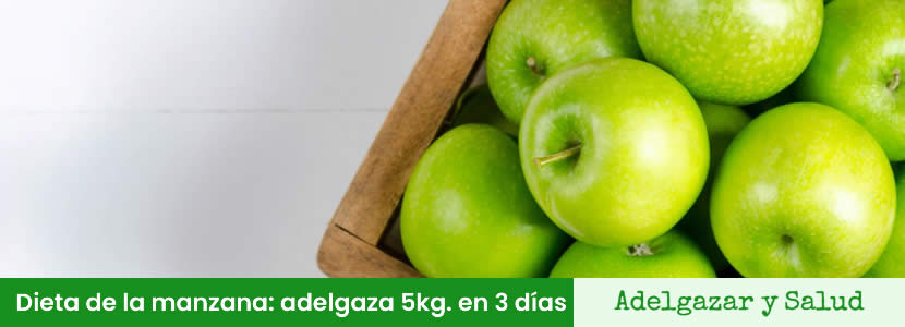 dieta basada en la manzana