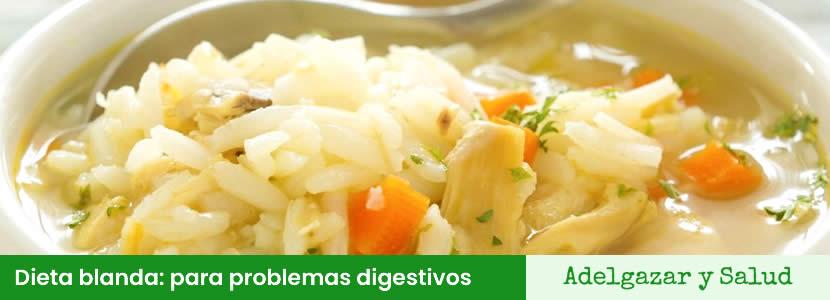 Dieta blanda: ideal para problemas digestivos