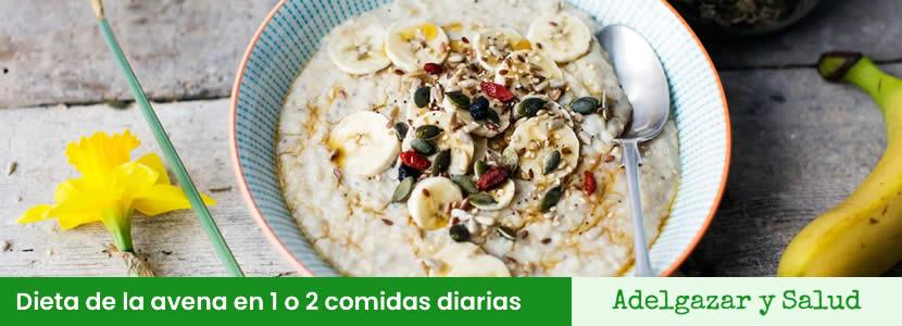 dieta de la avena 2 comidas