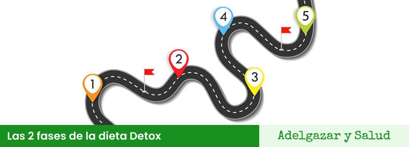 dieta detox fases