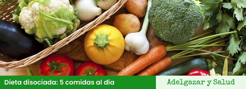 La dieta disociada consta de 5 comidas al día