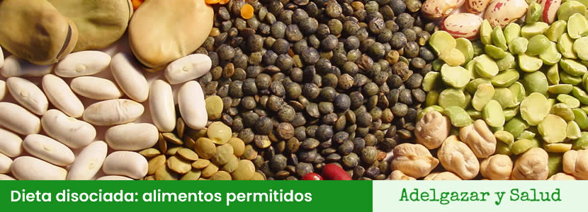 Alimentos permitidos en la dieta disociada