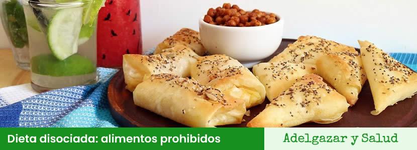 Alimentos prohibidos en la dieta disociada
