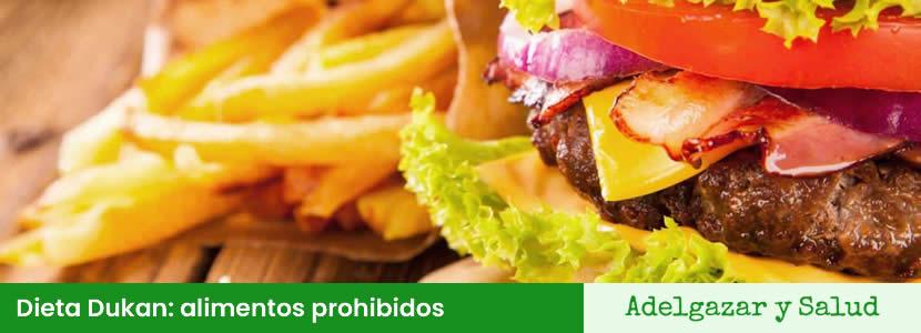 dieta dukan alimentos prohibidos