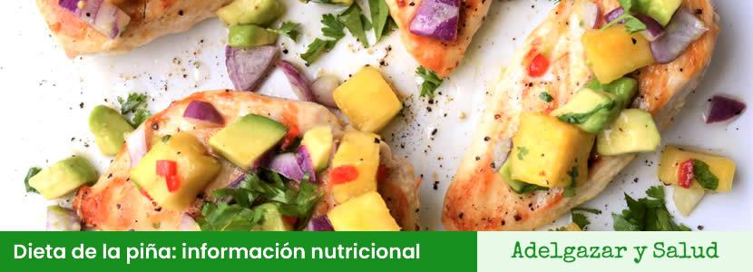 dieta de la piña: información nutricional