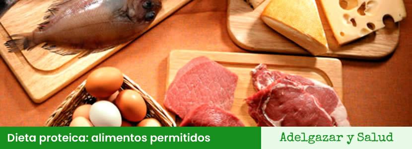 dieta proteica alimentos permitidos