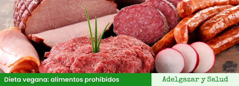 dieta vegana alimentos prohibidos