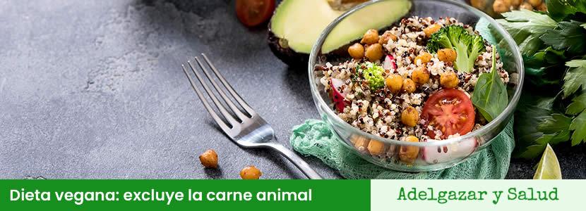 dieta vegana sin carne