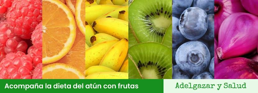 Dieta del atún acompañada con frutas