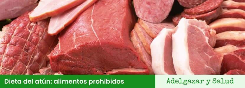 Dieta del atún alimentos prohibidos