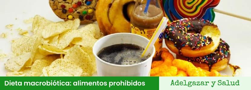 Dieta macrobiótica alimentos prohibidos