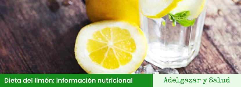 dieta del limon informacion nutricional