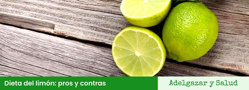 dieta del limon pros y contras