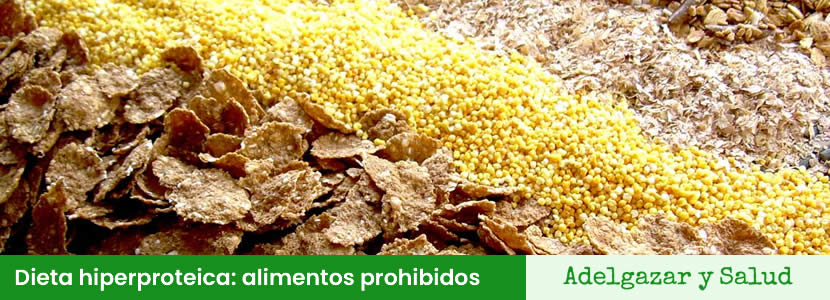 dieta hiperproteica alimentos prohibidos