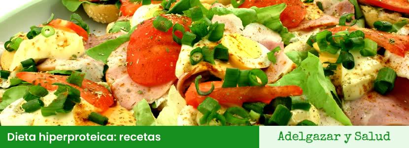 dieta hiperproteica recetas