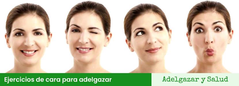 Ejercicios de cara para adelgazar