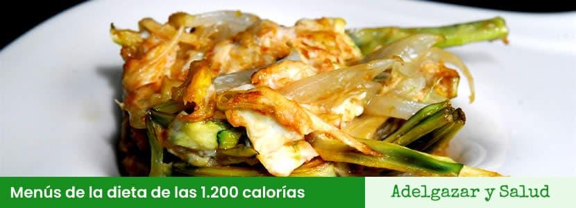 menús de la dieta de las 1200 calorias