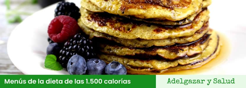 menús de la dieta de las 1500 calorias