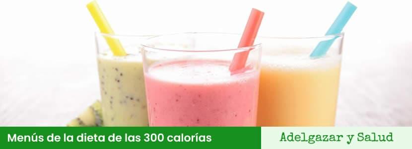 menús de la dieta de las 300 calorias