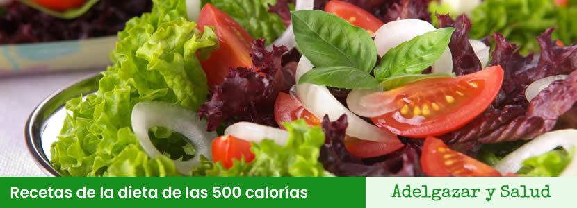 recetas de la dieta de las 500 calorias