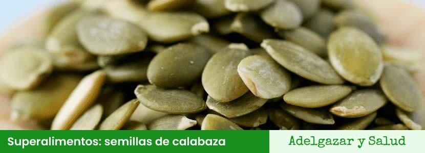 Superalimentos semillas de calabaza