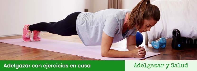 Adelgazar con ejercicios en casa