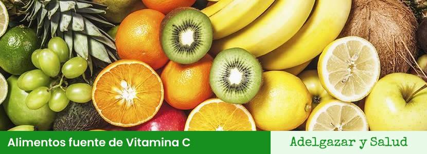 Alimentos fuente de Vitamina C