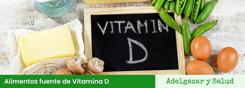 Alimentos fuente de Vitamina D