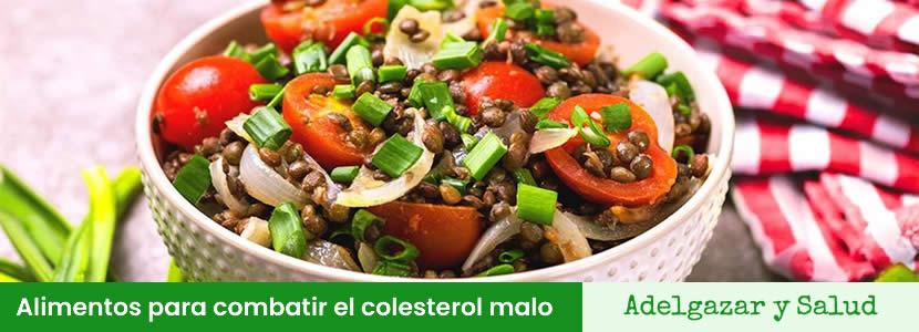 Alimentos para combatir el colesterol malo