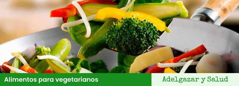 Alimentos para vegetarianos