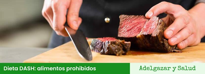Dieta DASH alimentos prohibidos
