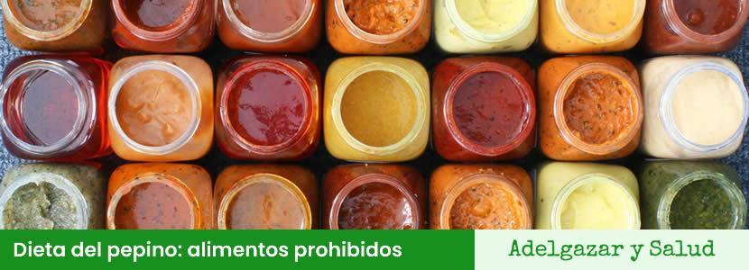 Dieta del pepino alimentos prohibidos