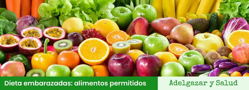 Dieta embarazadas alimentos permitidos