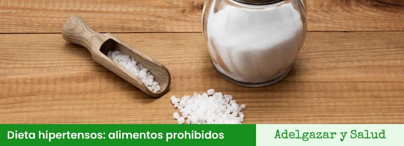 Dieta hipertensos alimentos prohibidos
