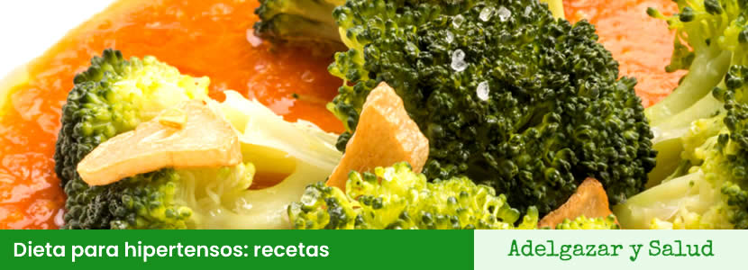 Dieta hipertensos alimentos recetas