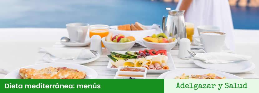 dieta mediterranea menús