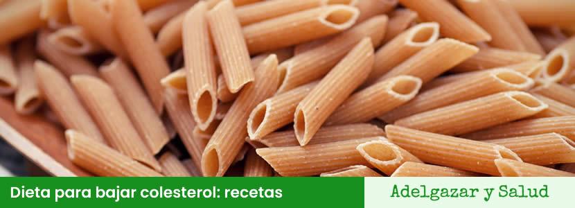 dieta para bajar colesterol recetas