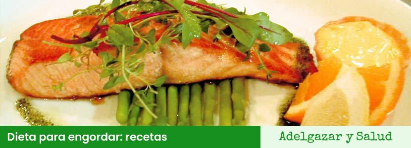dieta para engordar recetas