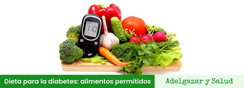 Dieta para la diabetes alimentos permitidos