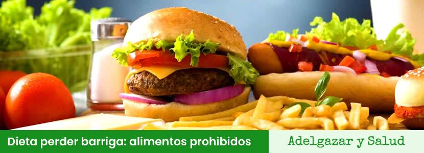 dieta para perder barriga alimentos prohibidos