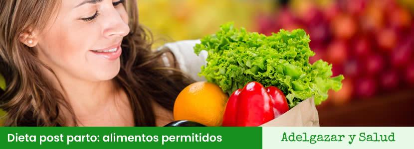 Dieta post parto alimentos permitidos
