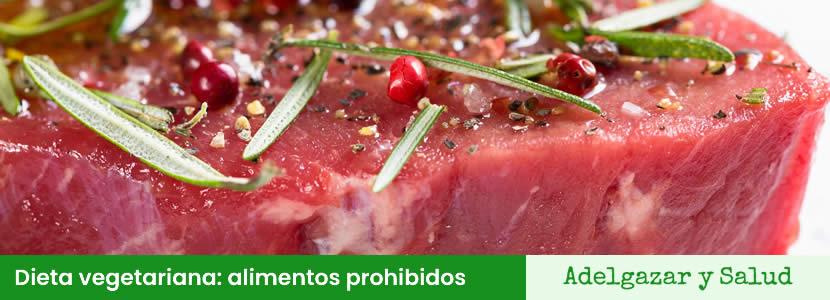 dieta vegetariana alimentos prohibidos