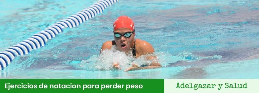 Ejercicios de natacion para perder peso
