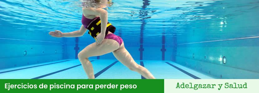 Ejercicios de piscina para perder peso